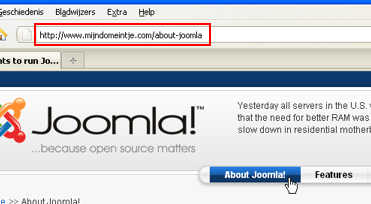 Joomla Search Engine Friendly URL