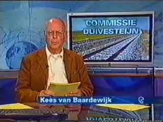 Afbeelding van Kees van Baardewijk als presentator van het NOS Journaal