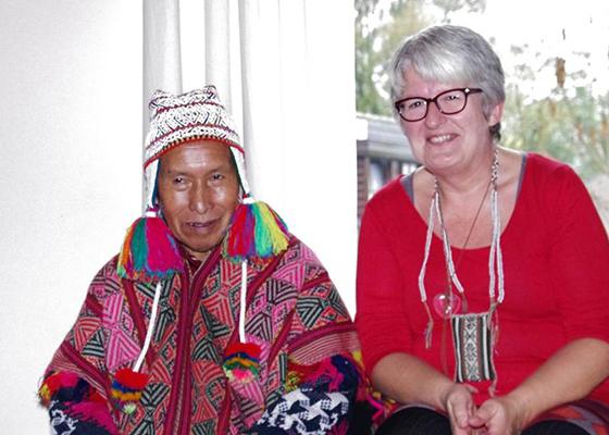 Nuchtere Inca-sjamaan met eigen website