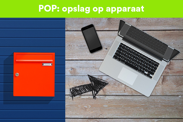 POP downloadt e-mail op je computer