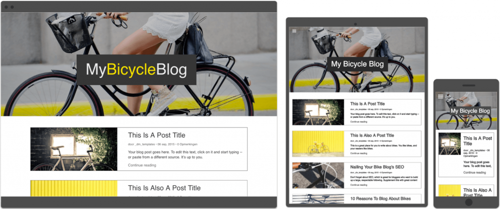 blog template Webistemaker