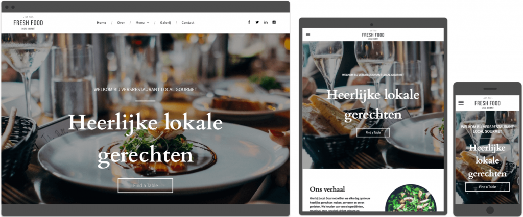 restaurant template Websitemaker