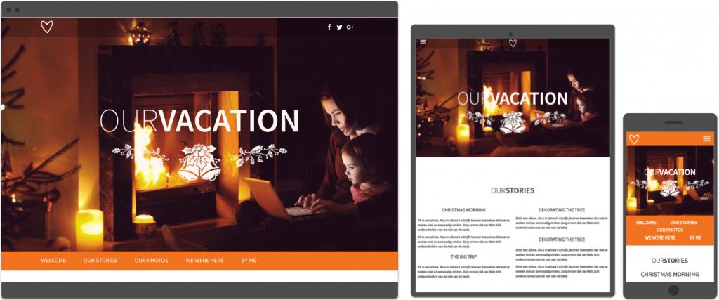 vakantie template Websitemaker