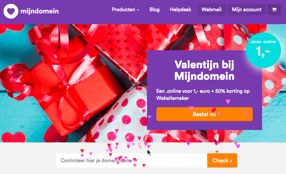 website personaliseren op feestdag