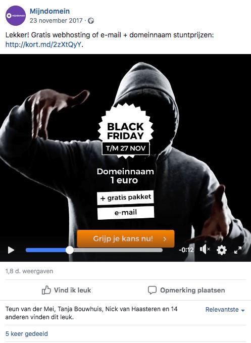 Black Friday op Facebook