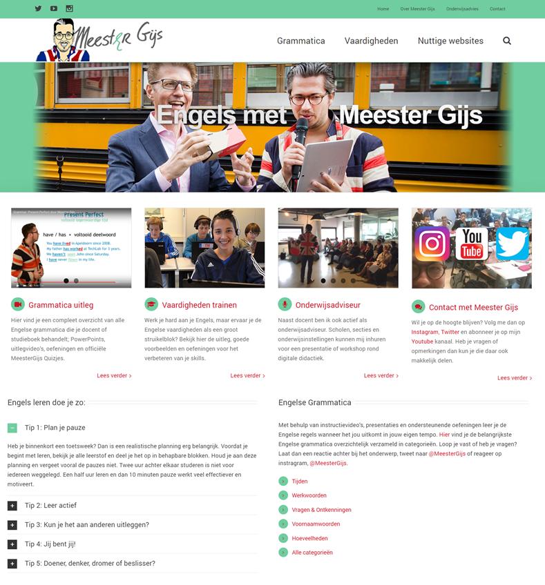 oude site homepage Meester Gijs