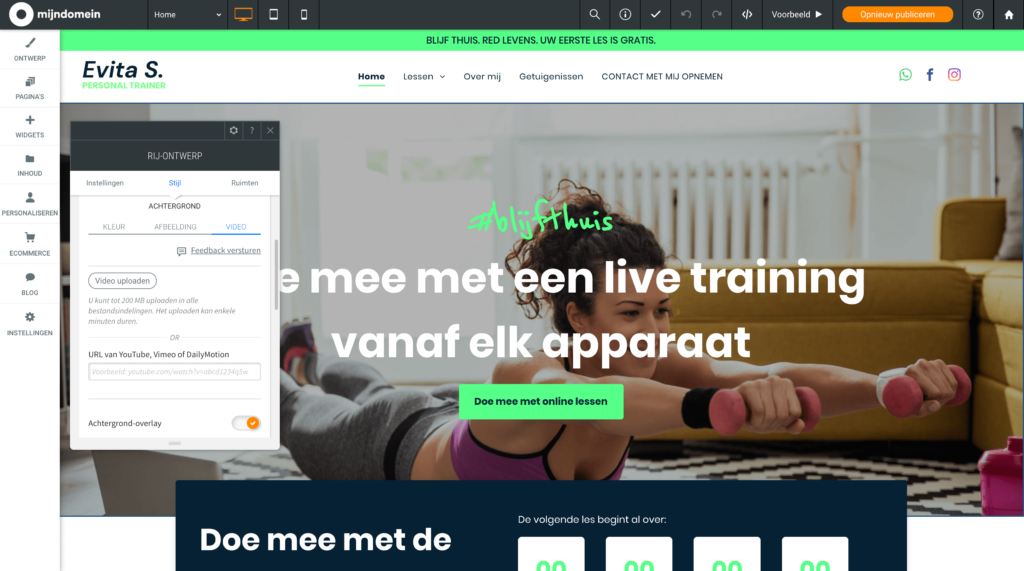 Upload video's rechtstreeks naar je website