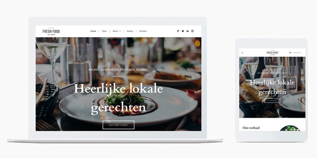 Restaurant website sjabloon voorbeeld