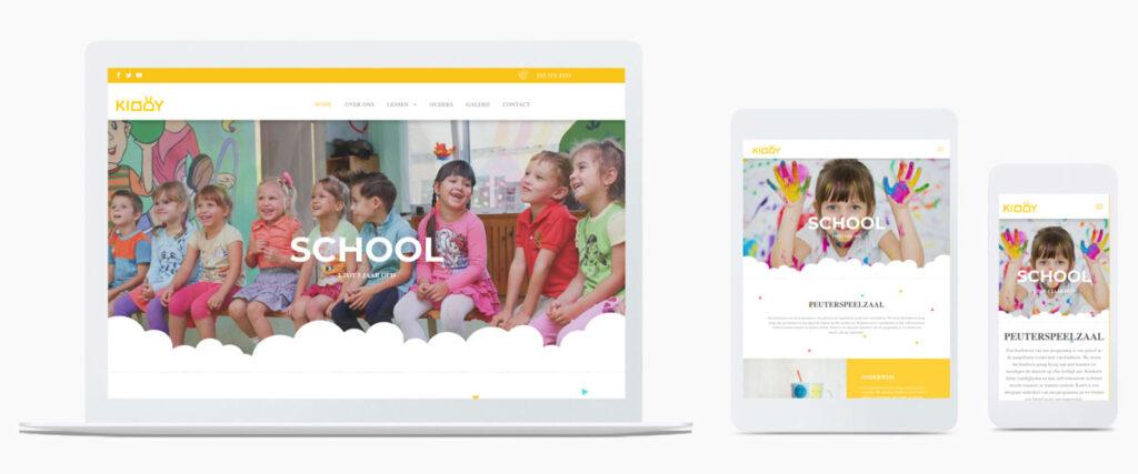 School of peuterspeelzaal website sjabloon voorbeeld